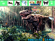 Флеш игра The Forest Dinosaur Hidden Object